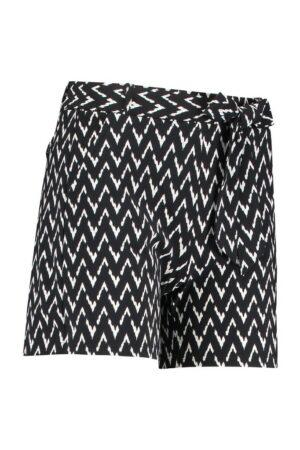 studio anneloes romee zig zag short black off white korte broek zwart wit dameskleding