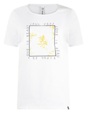 zoso t-shirt beautiful white yellow wit geel dames kleding