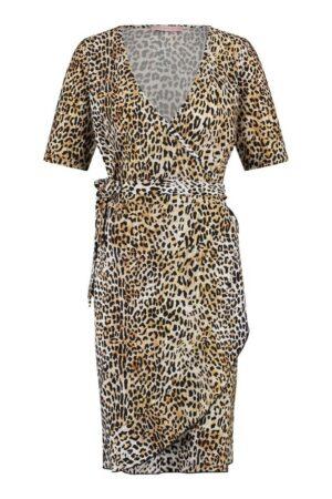 studio anneloes tanja leopard dress off white black wit zwart dames kleding