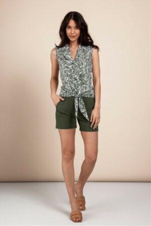 studio anneloes romee short green korte broek groen dames kleding